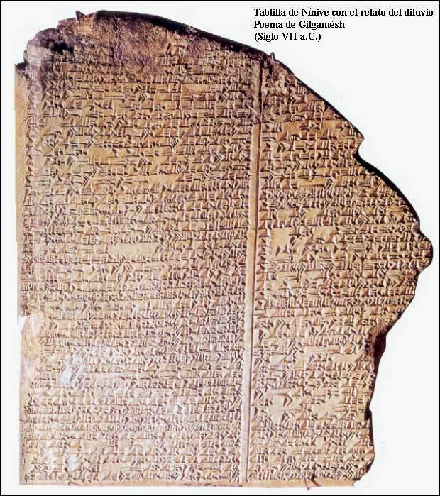 Resultado de imagen de tablilla en cuneiforme en la que estaba escrita la epopeya de Gilgamesh