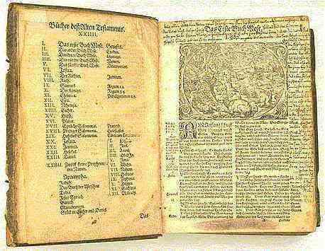 página de la Biblia de Lutero