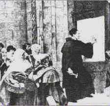 Lutero clavando las 95 tesis