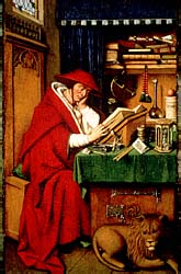 Jerónimo en su estudio, por van Eyck